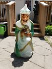 Vintage Gift Bearing Light Up King Wise Man Christmas Nativity Blow Mold