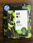 HP 60 Black + 60 Tri Color Ink Cartridge Combo Pack EXP oct 2019 Free Shipping