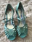 BCBG Paris Robbins Egg Blue Peep Toe Wedge Sandals-9