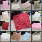 10Pcs Floral Laser Cut Wedding Invitation Cards Party Blank Inner Envelope US