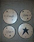 Primitive stove covers .. black star farmhouse country folk live laugh love