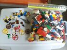 VINTAGE LEGO LOT MINIFIGS FLAGS PIRATE SPACE RED CAP ASTRONAUT WHALE COINS BAG