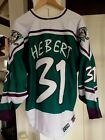 Authentic CCM Anaheim Mighty Ducks Wild Wing Guy Hebert Jersey XL