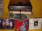 Iron Maiden Eddie's Archive 1st Edition Tin Blue Inlay 6 CD's Glass Scroll Ring
