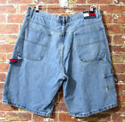 VTG Tommy Hilfiger Carpenter Jeans Shorts Denim sz 40 Urban Box Logo