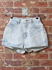 VTG 80s Dirty Dancing Acid Wash Shorts 3 4 High Waisted Denim Jean