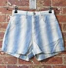 VTG Guess Vertical Striped Shorts 28 High Waisted Denim Jean Hight Waisted Mom