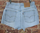 Vintage Levis High Waisted Mom Jeans Shorts 10 Mis M 550 Light Blue Denim