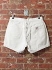 VTG Guess USA sz 32 Jeans Shorts White Denim Urban Hip Hop Dungarees