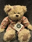 Boyds Bean Filled Girl Brown Teddy With Floral Outfit Large NWT!!