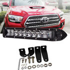 50W CREE LED Light Bar Front Bumper Light w Mount Bracket For 16+ Toyota Tacoma