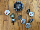 Lot of Vintate Buick Emblems and Hood Ornament