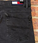 VTG Tommy Hilfiger 5 Mom Jeans Low Waist Denim Boyfriend Boot cut Black Box Logo