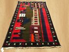 Hand Knotted Vintage Afghan Balouch Wall Hanging Wool Area Rug 5 x 3 FT (3271)