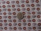 Back In Time Textiles~Rare Antique 1860 copper toned madder fabric textile~