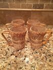 Glasses in basket holders set of 4