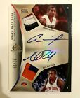 Andre Iguodala dual Nate Robinson 06-07 Upper Deck SP Game Used patch auto 2 25