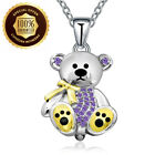 925 Sterling Silver Lovely Bear Pendant Necklace Present Gift