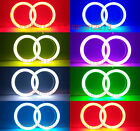 2pcs Cotton RGB Halo Rings with Remote control For Headlight fog light
