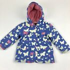 Hatley Hooded Rain Jacket Coat Purple Butterfly Toddler Size 1 12-24 Months