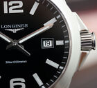 New / Neu Longines Conquest Lady 34 Steel Silver Leather #L3.377.4.58.3