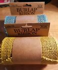 New Burlap Ribbon Rolls Set of 2  55 Width 15 ft Length