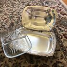 Silver Serving Dish with Hinged Lid