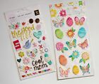 Pink Paislee Oh My Heart and AC Hello Spring Puffy Stickers scrapbooking