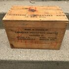 Vintage High Explosives Canada Ind. Limited Wood Box Dynamite Crate TNT empty