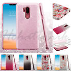 For LG G7 ThinQ Bling Hybrid Glitter Sparkle Rubber Protective Soft Case Cover