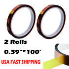 2 Rolls Heat Resistance Tape 039inch100ft Sublimation Transfer Thermal Proof