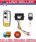 Wireless Winch Remote Control Kit 12V 50FT For Car Truck Jeep ATV Warn Ramsey US