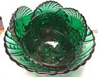 1950s Forest Green Anchor Hocking Oyster and Pearl Bowl Set 7 Pieces
