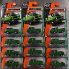 MATCHBOX VOLKSWAGEN TRANSPORTER CAB PICKUP TRUCK GREEN LOT OF 12 FREE SHIP