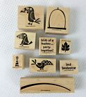 Stampin Up JUST BEAKAUSE Rubber Mounted Wood Stamp Set of 9 RETIRED Toucan Bird