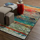 8x10 76 x 10 Contemporary Modern Abstract Multi Color Area Rug