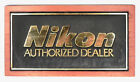 Vintage Nikon Wood  Plastic Sign for Authorized Dealer 2  Very Rare