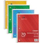 Spiral Notebook Single Subject 70 Pages