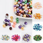 200pcs per bag Mixed Color Round Pearlized Glass Beads DIY Jewelry Findings 6mm