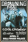 Drowning Pool autographed gig poster Dave Williams, C.J Pierce, Mike Luce