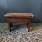 Primitive/Rustic Country Wood Milk Stool Foot Stool Bench Plant/Crock Stand