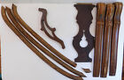 8 Antique Architectural Wood Salvage Furniture Carved Trim Pieces