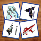 Military Planes 8 Machine Embroidery Designs