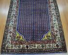 3'5 x 10 Genuine Semi Antique Persian Saraband Handmade Wool Runner Paisley Rug