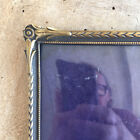 Vintage Photo Frame Brass Golden Danish Convex Glass Wall Decor Picture House