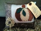 Handcrafted Fall Pumpkin Pillow Tuck Basket Filler
