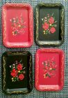 Coasters Toleware Black/Red