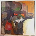 VINTAGE ABSTRACT EXPRESSIONIST OIL PAINTING MID CENTURY MODERN NY ASL AMGOTT