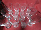 8 Anchor Hocking Boopie Glass Water Wine Goblets 5 1 2 Candlewick Style Clear