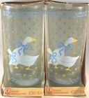 Country Goose Farm Glasses Tumblers Iced Tea Anchor Hocking 1980s Discontinued 4
